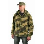 """Флисовая мужская куртка """"Gerkon Picnic"""", камуфляж цвет """"Атакс"""""""