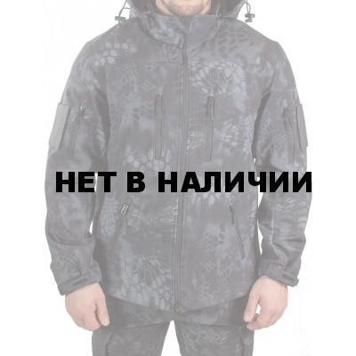 Куртка с капюшоном МПА-26-01 (ткань софтшелл), камуфляж питон ночь