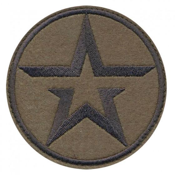 Нашивка на рукав с липучкой Армия РОССИИ звезда вышивка шёлк