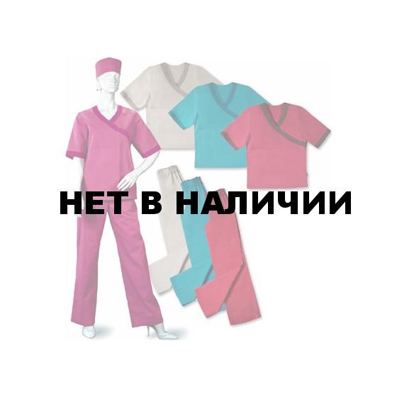 Костюм женский Омела розовый с бордовым