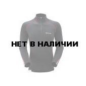 Футболка мужская BIONIC L/S ZIP NECK,S black/red, MBLZNBLAB0