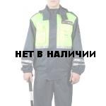 Куртка-ветровка ДПС сигнальная, ткань Твил