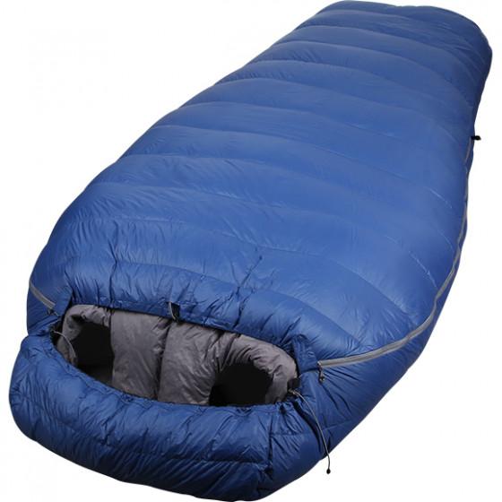 Двухместный спальный мешок пуховый Tandem Light синий