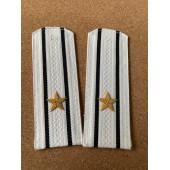 Погоны Береговая охрана ПС ФСБ вышитые Капитан 3 ранга парадные на белую рубашку
