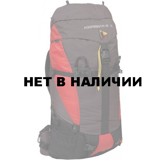 Рюкзак BASK AGGRESSOR 45 V2 красный/серый свтл