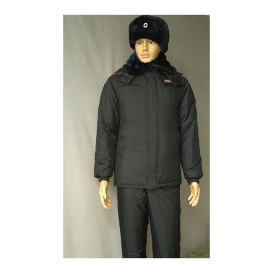 Куртка Полиция зимняя удлиненная (фольга/мембрана/холофайбер)