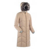 Пальто женское пуховое ROUTE V3 бежевое