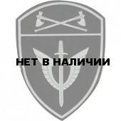 Нашивка на рукав с липучкой Росгвардия Приволжский Округ ОМОН полевая пластик