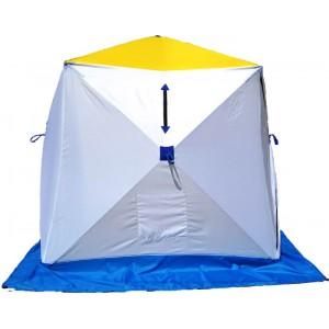 Палатка для зимней рыбалки Стэк Куб-2 трехслойная (дышащий верх)