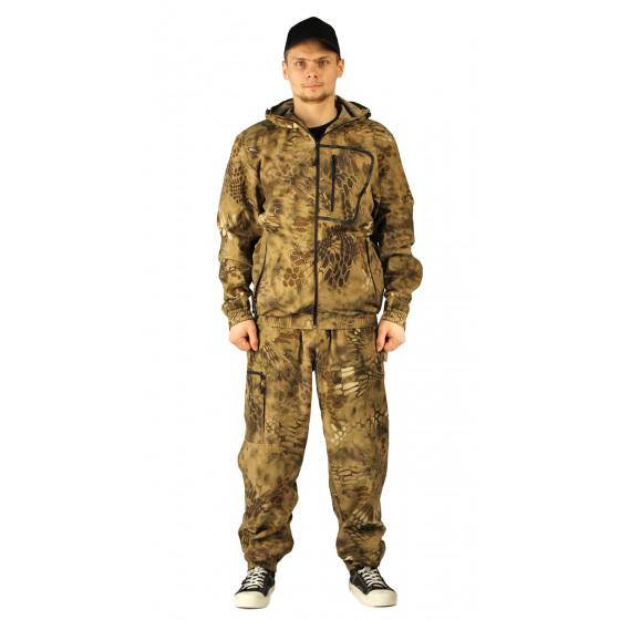 Костюм ТУРИСТ 1 куртка/брюки цвет:, камуфляж Питон коричневый, ткань : СОРОЧЕЧНАЯ