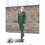 Костюм МО офисный женский НОВОГО ОБРАЗЦА, длинный рукав, зеленый рип-стоп 240\сетка