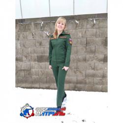 Костюм МО офисный женский НОВОГО ОБРАЗЦА длинный рукав(ткань рип-стоп 240, подкладка сетка ,цвет зеленый)
