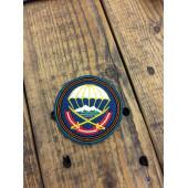 Нашивка на рукав 108-й гвардейский десантно-штурмовой полк голубой фон вышивка шелк