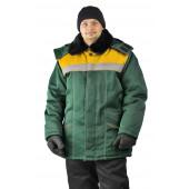 Куртка зимняя УРАЛ цвет: т.зеленый/желтый