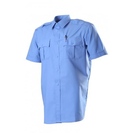 Сорочка, короткий рукав, Сорочечная голубая 526