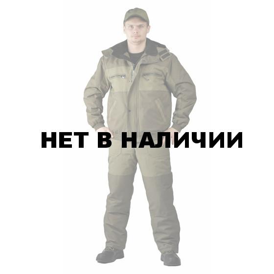 Костюм зимний ВИХРЬ куртка/полукомб. цвет: св.хаки/т.хаки, ткань : Кошачий глаз