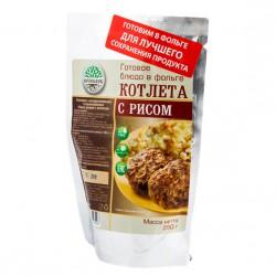 Готовое блюдо Каша рисовая с котлетой (Кронидов)