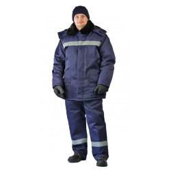 Костюм зимний СТРОИТЕЛЬ-ГРЕТА куртка/брюки, цвет: т.синий