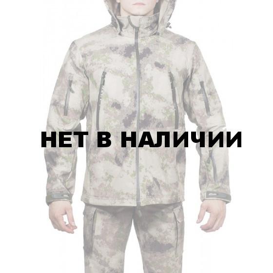 Куртка с капюшоном МПА-26 (ткань софтшелл), камуфляж песок