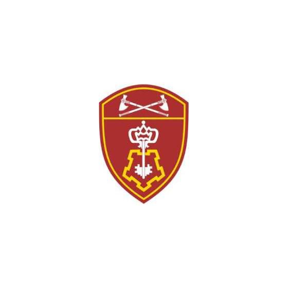 Нашивка на рукав с липучкой Росгвардия Приволжский Округ Вневедомственная охрана пластик