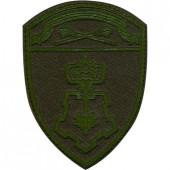 Нашивка на рукав с липучкой Росгвардия Центральный округ Вневедомственная охрана полевая фон оливковый пластик