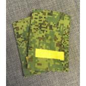 Фальш-погоны цифра зеленая выш. лычки ефрейтор мал, жёлтые