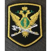 Нашивка на рукав ФССП орел вышивка шелк с липучкой