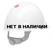 Каска защитная 3М G3000 белая, с храповиком