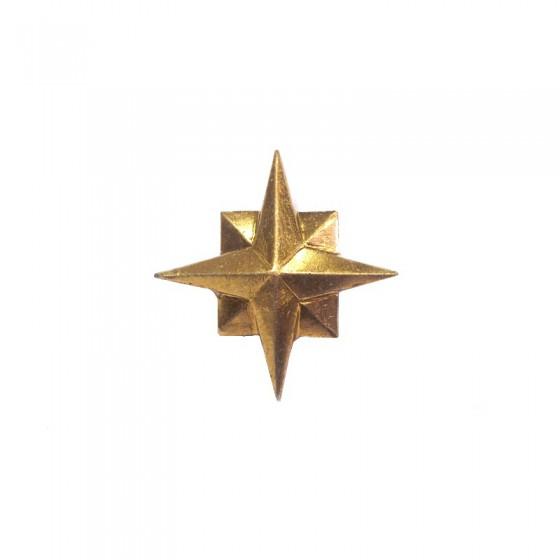 Знак различия Звезда МЧС 22мм золотая металл