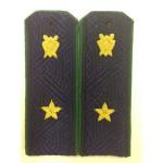 Погоны Прокуратура государственный советник юстиции 3 класса на синюю рубашку с эмблемой
