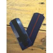 Погоны Росгвардия синие с 1 краповым просветом пластик
