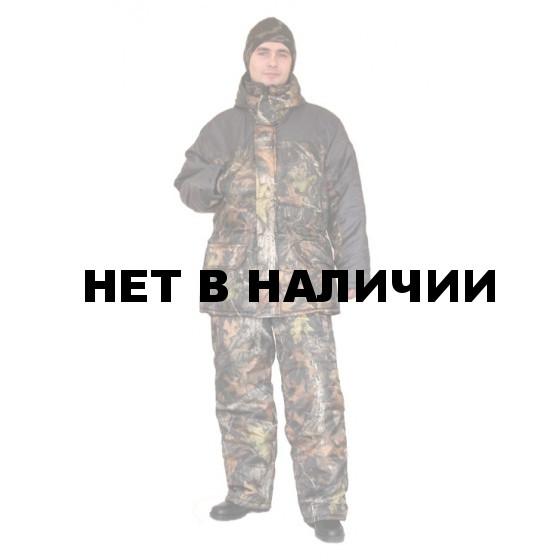 Костюм мужской Нордвиг зимний, камуфляж Ясень, Оксфорд, воротник стойка-флис
