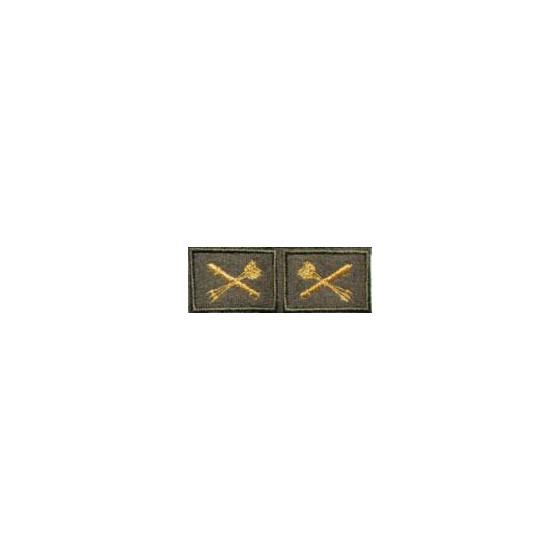 Эмблема петличная ПВО нового образца повседневная вышивка шёлк