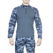 Рубашка МПА-12, камуфляж серо-голубая цифра крупная