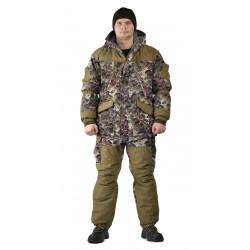 Костюм демисезонный ГЕРКОН-ВЕСНА/ОСЕНЬ куртка/брюки цвет:, камуфляж Желтые соты/хаки, тк: Алова/Канада