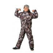 Костюм детский Тайга зимний, подклад фольгированный, ткань Алова-мембрана, камуфляж цвет Paintball