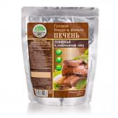 Готовое блюдо Печень говяжья в собственном соку 250 г. (Кронидов)