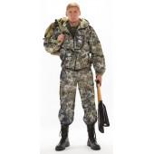 Костюм ТУРИСТ 1 куртка/брюки цвет:, камуфляж Питон зеленый, ткань : Грета