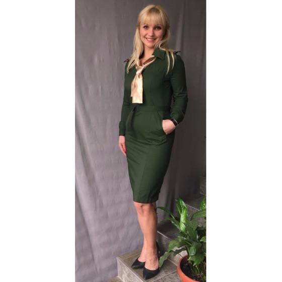 997c54948b5 Платье МО цвет зеленый