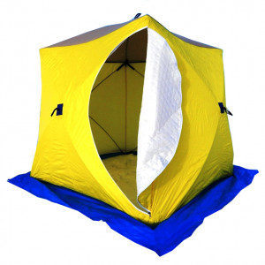 Палатка-куб зимняя СТЭК КУБ-3 (трехслойная) дышащая