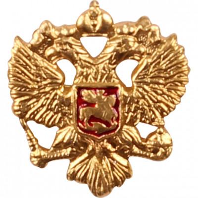 Миниатюрный знак Герб РФ на булавке металл