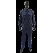 Костюм РОСГВАРДИЯ повседневный с длинным рукавомцвет синий (ткань габардин) МПА-135-03