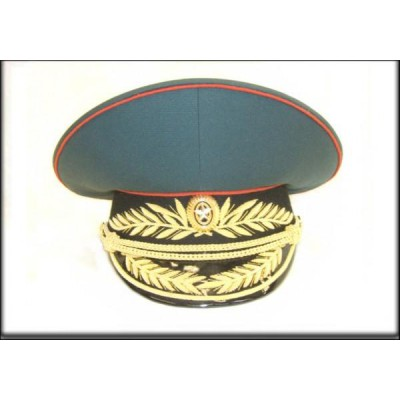 Фуражка МО генеральская черный околыш парадная модельная золото