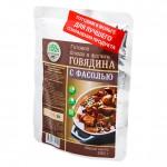 Готовое блюдо стерилизованные Говядина с фасолью(Кронидов)