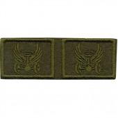 Эмблема петличная Автомобильные войска нового образца полевая вышивка шёлк