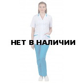 Комплект одежды медицинской женской Лиза plus size (блуза и брюки)