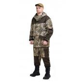 Костюм ГОРКА-ГОРЕЦ куртка/брюки, цвет:, камуфляж Туман/т.хаки, ткань : Грета
