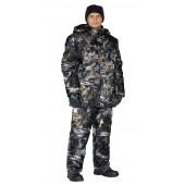 Костюм зимний СКАНДИН куртка/полукомб. цвет:, камуфляж Серый мох, ткань : Алова