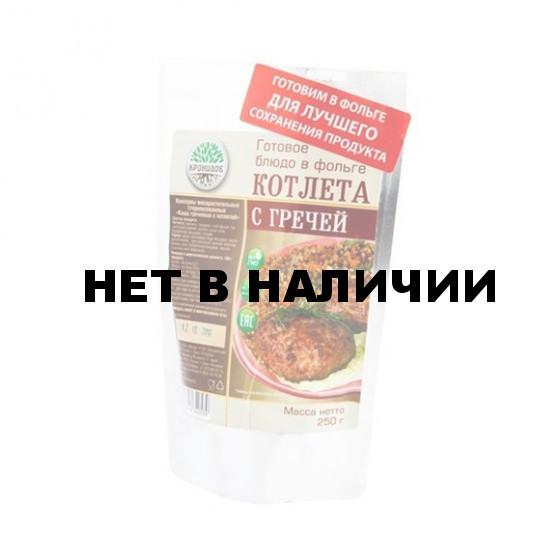Готовое блюдо Каша гречневая с котлетой (Кронидов)