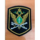 Нашивка на рукав ФССП орел вышивка люрекс